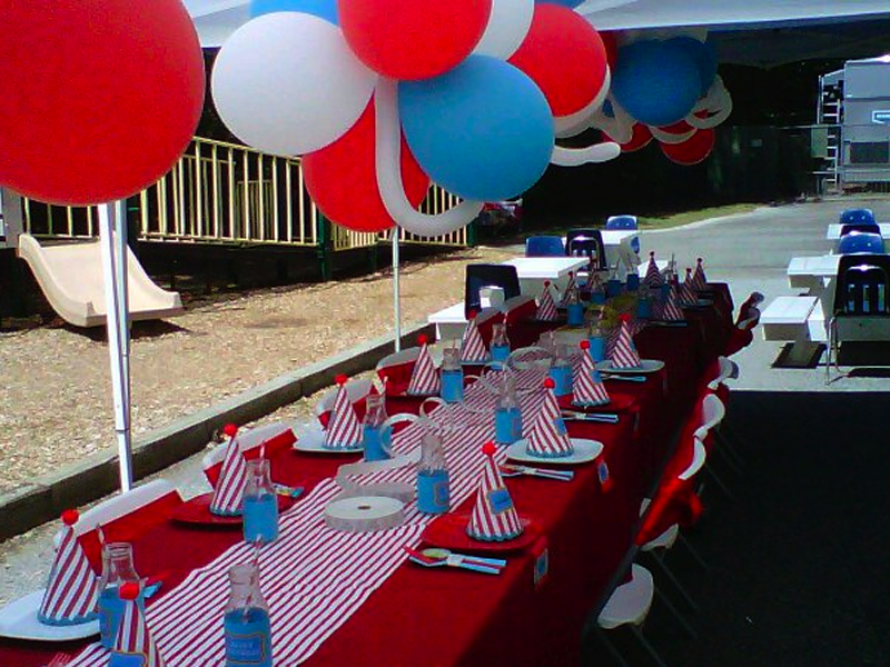 carnival table setting | Simple Details | Event Design & Specialty ...